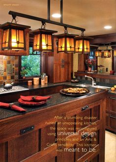 beautiful lights for the kitchen bar.mage result for vintage craftsman lighting Craftsman Style Kitchens, Craftsman Interior, Interior Design Kitchen, Craftsman Homes, Craftsman Windows, Bungalow Kitchen, Craftsman Door, Modern Craftsman, Design Your Home