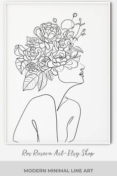 Line Drawing, Drawing Sketches, Painting & Drawing, Art Drawings, Outline Art, Abstract Line Art, Minimalist Art, Art Inspo, Flower Art