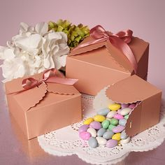 Flower Edge Favor/Candy Boxes