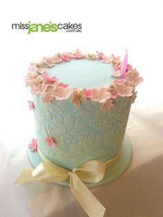 Rachael's pretty 30th Birthday Cake | Flickr - Photo Sharing!   www.missjanescakes.com.au