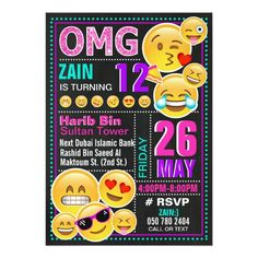 Hippo invites cards stationery ebay home furniture diy kids emoji pink glitter birthday invitation filmwisefo