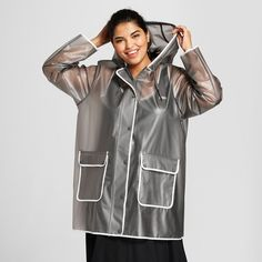 d8f27faf97f Hunter for Target Women s Plus Size Rain Coat - Gray   Target Rain Gear