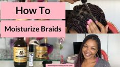 How to Moisturize Natural Hair in Braids? My method? Purified Water and Aloe Vera Juice. Why Purified Water? Tap water isn't what it used to b - How to Moisturize Braids - Dominique's Vanity Corner Natural Hair Shampoo, Natural Hair Moisturizer, Natural Haircare, Hair Remedies For Growth, Hair Growth, Natural Hair Care Tips, Natural Hair Styles, Box Braids Hairstyles, Cool Hairstyles