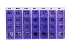 Apothecary Products Ezy Dose Medication Organizer, Assorted Blue/Green/Clear, 0.65 Pound, 2015 Amazon Top Rated Medication Aids #HealthandBeauty