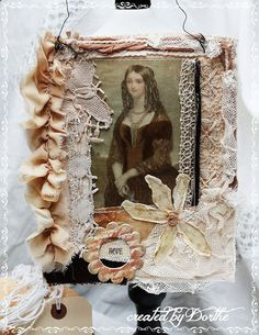 Shabby Chic Inspired: created by Dorthe Hansen, paperwhimsy lady image.