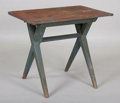 Blue, Sawbuck Table | 19th Century, American