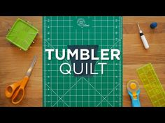 """Make the easy tumbler quilt block using 5"""" charm squares and Missouri Star's Tumbler Template! It's so quick and easy! Quilt Snips are bite-sized tutorials d..."""