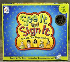 Educational Toys for Christmas – See It and Sign It (Sign Language Game)