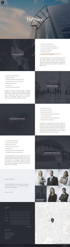 """Stylish One Pager for Brazilian law firm, 'Hoffmann' featuring a good responsive design that fills a big screen well. Love the Hero image choice and overall color scheme - I hadn't seen a """"corporate"""" One Pager in ages and this one really is slick.  Chose WebsitesYES.com for your design needs."""