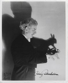 Soyouthinkmagicfinger… vintage magician making a ff rabbit ffigure