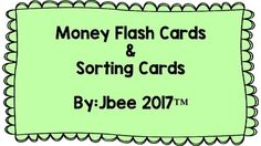 3x5 Flash cards of American coins and dollar bills up to 100 dollars. 3x3 cards of American coins and dollar bills up to 100 dollars. ^includes coin/dollar front and back, written out word, and numerical value Print on cardstock and laminate. Use for sorting, trivia, memory, etc...