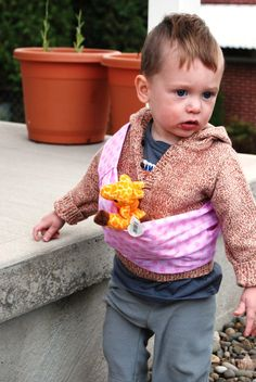 Child Baby Doll Toy Sling Carrier by MargauxMakes on Etsy, $11.50