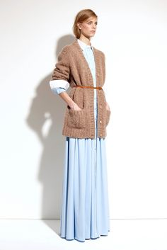 shirtdress and belted sweater