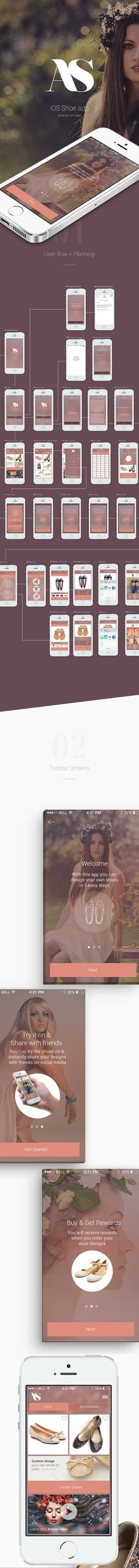 Feminine app- gorgeous colour scheme and incorporation of photography- White type on transparent background.