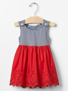 Open-back eyelet dress Product Image