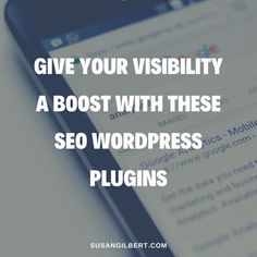 Give Your Visibility a Boost with These SEO WordPress Plugins | Susan Gilbert | Reinvention Guide - Let's Pivot Your Zone of Genius! Work On Yourself, Improve Yourself, Wordpress Plugins, Search Engine Optimization, Seo, Engineering, Let It Be, Technology
