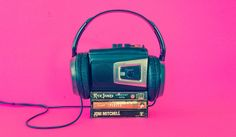 Retro Sony Walkman TCM-16 w/ Sony MDR-CD60 Headphones & Tapes
