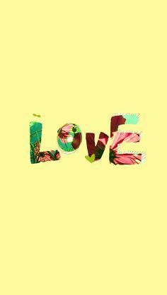 Yellow iPhone5 Love Wallpaper.