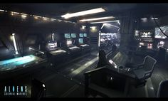 We have a selection of stunning Sci-Fi and Fantasy themed images by the Argentinian Concept Artist and Illustrator Ignacio Bazán Lazcano - also known as Neisbeis Spaceship Interior, Futuristic Interior, Futuristic City, Blade Runner, Video Game Artist, Creative Assembly, Alien Spaceship, Environment Concept Art, Sci Fi Art