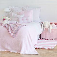 Jacquard with Lace Trim Bedspread and Cushion Cover   ZARA HOME Türkiye / Turkey