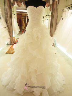 Elenora Ruffle Mermaid Wedding Dress.