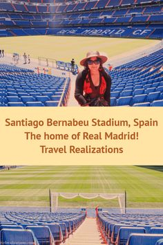 Santiago Bernabeu Stadium - The home of Real Madrid!   #TravelSpain #Spain #Barcelona #Explore Europe Travel Tips, Spain Travel, Travel Guides, Travel Plan, Real Madrid Club, Visit Madrid, Paradise Travel, European Destination, European Travel