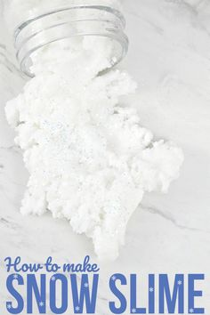 This snow slime is so cool - literally! Make snow slime with one of these two great recipes - one with liquid starch, one without. Super cool, either way! Preschool Christmas Crafts, Christmas Card Crafts, Christmas Activities, Kids Christmas, Holiday Crafts, Crafts For Kids, Preschool Winter, Christmas Presents, Christmas Ornaments