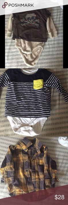 6-12months gap clothes 3 6-12 months baby boy gap shirts GAP Shirts & Tops Tees - Long Sleeve