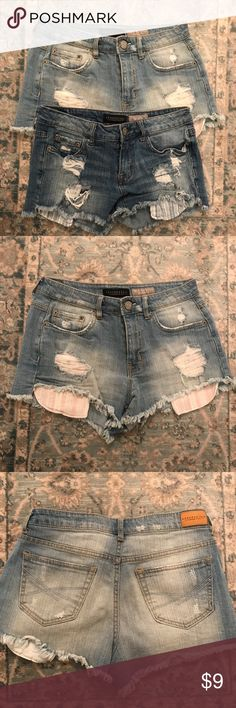 2 pair of Aeropostale shorts 2 pair of distressed Aeropostale shorts in good condition. Aeropostale Shorts Jean Shorts