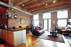 Chicago South Loop Loft. This Is the look my Jen Cave is going to have. No more trips, time to remodel.