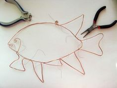 fish made from wire and beads | make handmade, crochet, craft