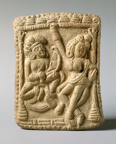 Dancer and a vina player shunga period 1st century BC India