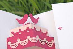 Elegante e romantica interpretazione della torta nuziale!