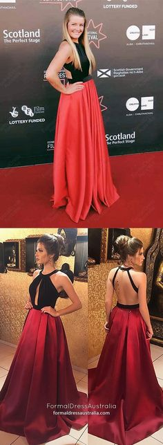 Red Prom Dresses Long, 2019 Modest Formal Evening Dresses For Teens, A-Line Military Ball Dresses Halter, Satin Pageant Graduation Party Dresses Open Back Prom Dresses Online, Cheap Prom Dresses, Modest Dresses, Party Dresses, Prom Gowns, Pageant Dresses, Homecoming Dresses, Ball Gowns, Formal Dresses For Teens