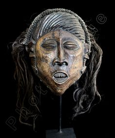 Ethnographic Art Image Series / Portrait of Luchazi Pwo-Pwevo Mask / Tribal Art–African Art / Giclée Print / Orig COLOR PHOTOGRAPHY by PhotoClique on Etsy