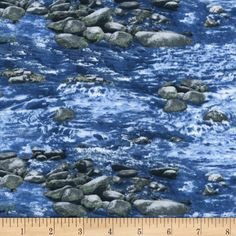 Timeless Treasures Botanical Trail Babbling Brook Water from @fabricdotcom  From Timeless Treasures, this cotton print fabric is perfect for quilting, apparel, and home decor accents. Colors include shades of blue and shades of grey with green accents.
