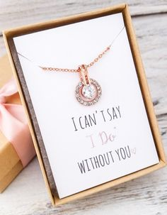 Rose Gold Necklace - Wedding Ideas - Bridesmaid Gifts - Budget Wedding