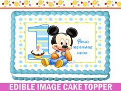 BABY MICKEY MOUSE Edible image Cake topper more sizes available