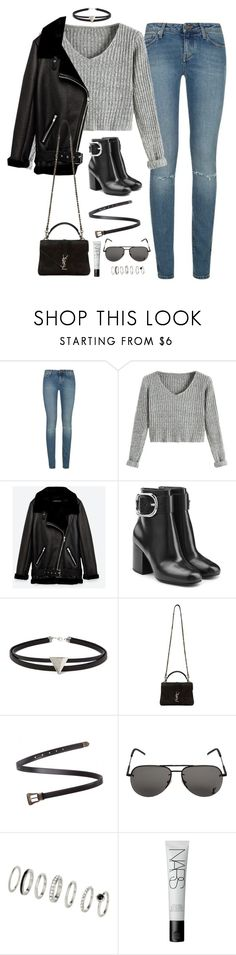 """""""Sem título #4968"""" by fashionnfacts ❤ liked on Polyvore featuring Yves Saint Laurent, Jakke, Alexander Wang, Forever 21 and NARS Cosmetics"""