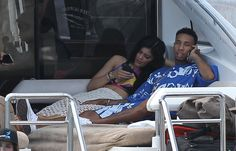 Pin for Later: Kylie Jenner and Tyga Hold Hands While Flyboarding in St. Barts