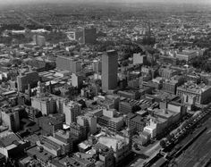 Here come the skyscrapers . Australia CRA Building and Southern Cross Hotel on Collins and Bourke were both built to the rear on Nicholson St, the ICI Building Photograph by Wolfgang Sievers. Melbourne Cbd, Melbourne Victoria, Victoria Australia, Melbourne Australia, Panoramic Photography, Aerial Photography, Photography Photos, Old Photos, Vintage Photos