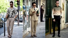 Outside the men's shows in Paris in June. Photos: Sarah Jane Barnes/Fashionista