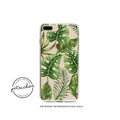 Tropical Leaf iPhone Case - iPhone 7 Case - iPhone 7 Plus Case - iPhone 6 Case - iPhone 8 Case - iPhone X Case - iPhone 8 Plus Case - Clear by PetrichorCases on Etsy Iphone 7 Plus Cases, Iphone 6, Tropical Leaves, 6 Case, Artwork, Etsy, Work Of Art