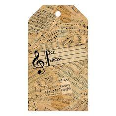 Sheet Music Decor, Sheet Music Crafts, Music Paper, Vintage Sheet Music, Vintage Sheets, Weird Gifts, Card Sentiments, Handmade Tags, Custom Ribbon