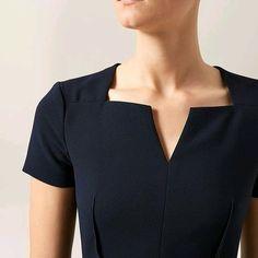 The Montgomery dress is a class act that will never fail you. Neck Designs For Suits, Neckline Designs, Dress Neck Designs, Designs For Dresses, Kurta Designs, Saree Blouse Designs, Mode Crochet, Kurta Neck Design, Smart Dress