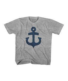Love this Gray Heather & Navy Anchor Tee - Toddler & Boys on #zulily! #zulilyfinds