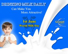 Celebrate 1st June is #WorldMilkDay, we are proud that, India is the Second Largest milk producer in the world.