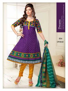 Purple cotton new fancy with discount at Salwar Suits Party Wear, Churidar Suits, Party Wear Dresses, Anarkali Suits, Casual Dresses, Salwar Kameez, Fancy Dress Material, Womens Clothing Stores, Clothes For Women