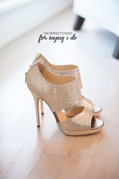 The perfect Choos. http://www.stylemepretty.com/illinois-weddings/2013/08/23/bridal-shoe-round-up/