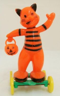 Wonderful vintage Halloween toys.